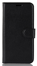 Кожаный чехол-книжка для Xiaomi Mi 8 Lite черный