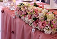 Свадебное оформление в нежно-розовом цвете