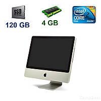 "Apple A1224 iMac 7.1 / 20"" 1680х1050 LCD / Intel Core 2 Duo T7700 (2 ядра по 2.4 GHz) / 4 GB DDR2 / 120 GB SSD / ATI Radeon HD2600 Pro 256 MB / Mac OS"