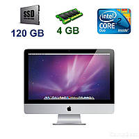 "Apple A1224 iMac 9.1 / 20"" 1680х1050 LCD / Intel Core 2 Duo P7550 (2 ядра по 2.26 GHz) / 4 GB DDR3 / 120 GB SSD / Nvidia GeForce 9400M 256 MB / Mac OS"