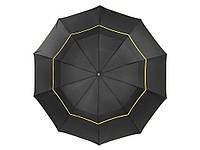 Огромный двухслойный зонт 130 см.  Черный