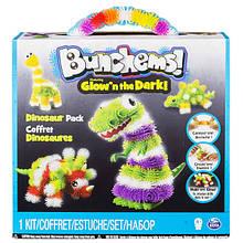 Bunchems Конструктор липучка Банчемс светящийся Парк Динозавров Glow'n The Dark Dinosaur Pack
