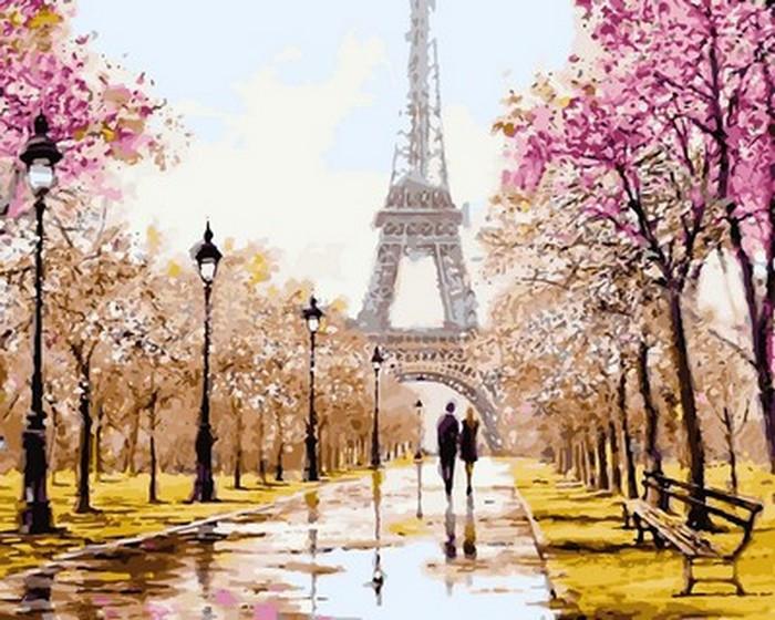 Картина по номерам 40х50см Ранняя весна. Париж