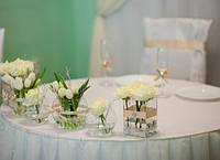 Свадебное оформление в молочно-зеленом цвете