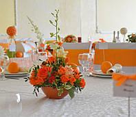 Свадебное оформление в апельсиновом цвете