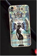"""Тонкий силиконовый чехол """"Всевидящее око"""" с прозрачными краями для Apple iPhone 7 / 8 (4.7"""")"""