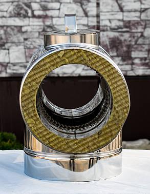 Тройник дымохода с ревизией 90° нерж\нерж 1 мм 130/200, фото 2