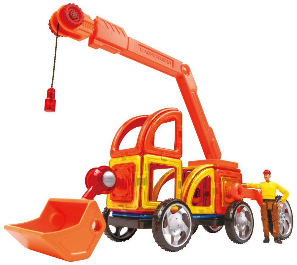Magformers Магнитный конструктор строительная техника 47 дет. Vehicle Power Construction Set 47 Piece