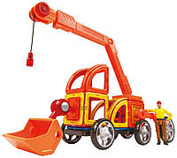 Magformers Магнитный конструктор строительная техника 47 дет. Vehicle Power Construction Set 47 Piece Magformers 06829