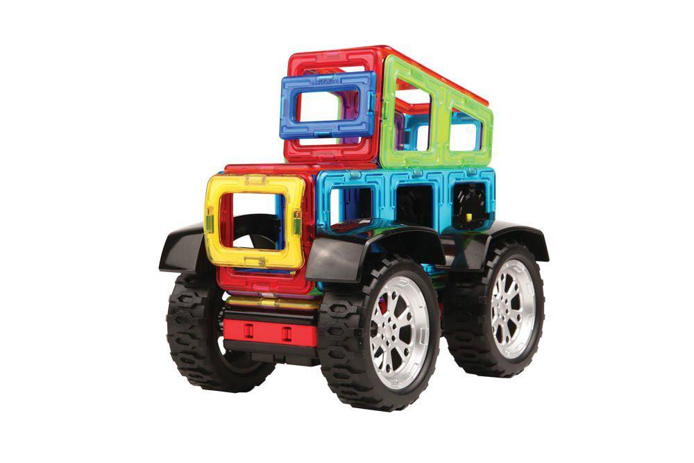Magformers Магнитный конструктор Силовой транспорт 81 дет. радиоуправляемый Power Vehicle Set 81 Piece