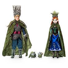 Disney Принцессы Диснея Набор Анна и Кристофф в зимних нарядах с троллями Anna, Kristoff, and Trolls Set -