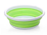 Складной тазик для ванной Babyhood 708 XS 25 см х 9,5 см Зеленый