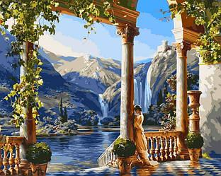 Картина по номерам Девушка у водопада 40х50см Babylon Turbo