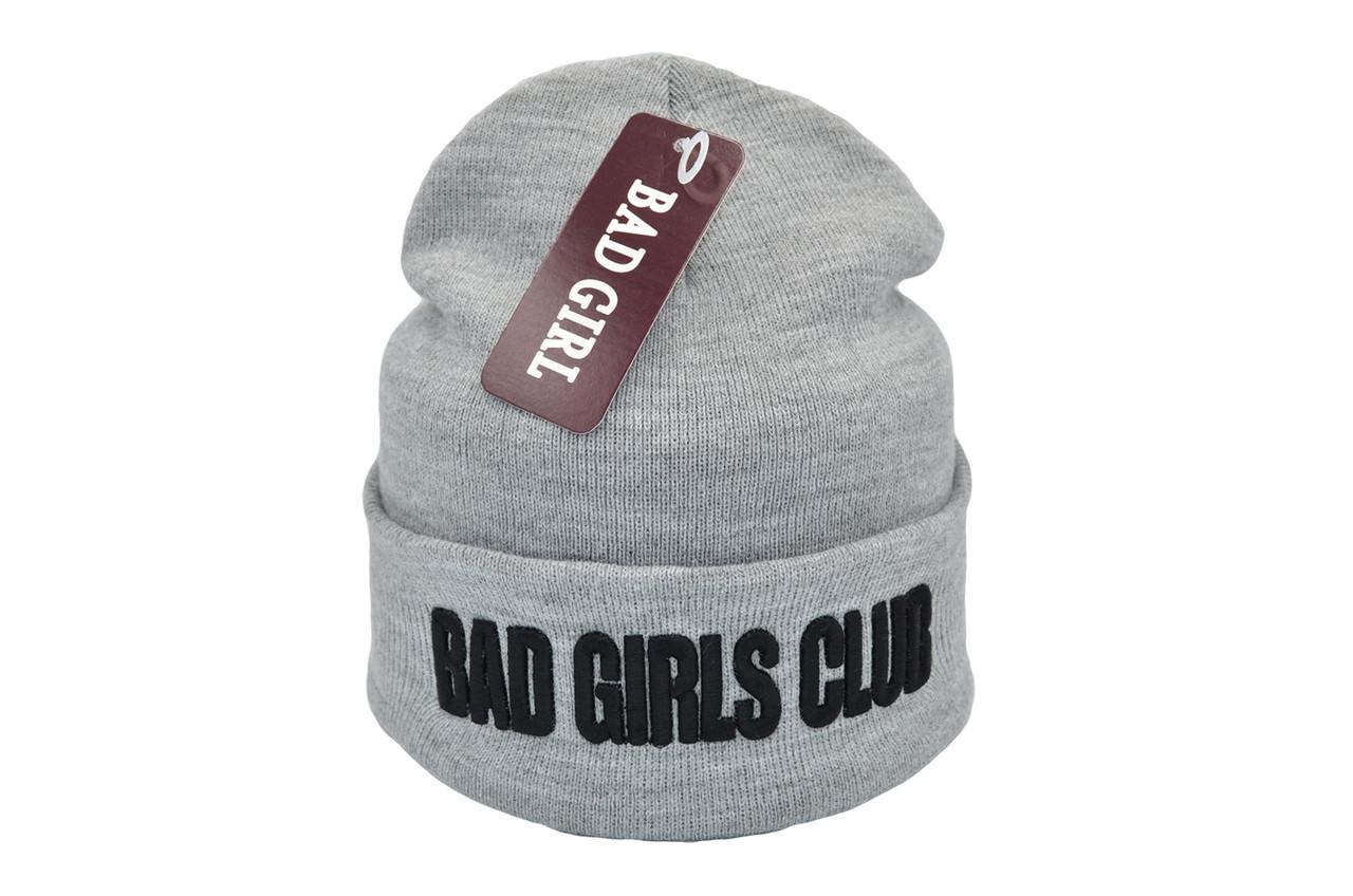 Шапка Flexfit Bad Girls Club 53-57 см Светло-серая (F-09118-119)