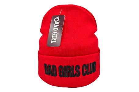 Шапка Flexfit Bad Girls Club 53-57 см Красная (F-09118-122), фото 2