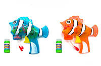 """Пистолет с подсветкой, пускающий пузыри """"Полосатая рыбка"""" 74-6"""