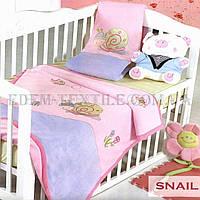 Детский плед Arya 105х130 Snail, Розовый, 105х130