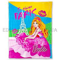 Подростковый плед 160х210 Elway Barbie Paris, Разноцвет, 160х210