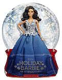 Barbie Барби Новогодняя в синем платье 2016 Holiday Doll dgx99, фото 4