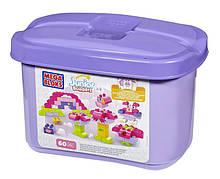 Mega Bloks Конструктор 60 деталей в боксе Building Blocks Build-a-Story 60 piece Tub Pink