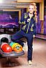 Спортивный костюм Инфинити / синий + желтый
