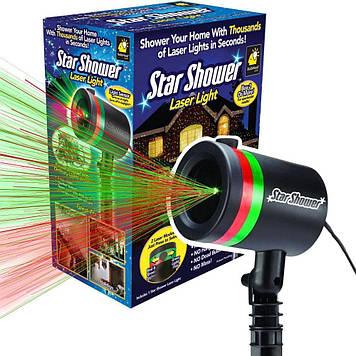 Уличный декоративный лазерный проектор Star Shower Laser Light (зеленый/красный).