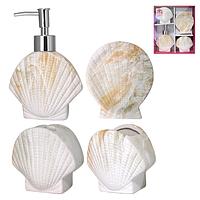 Набор аксессуаров для ванной комнаты S&T 4 пр Ракушка 888-06-024