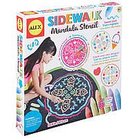 ALEX Toys Набор мелков для асфальта и трафарет Artist Studio Sidewalk Mandala Sweet Stuff