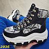 Зимние ботинки кроссовки на высокой тракторной платформе В НАЛИЧИИ ТОЛЬКО 36р, фото 8