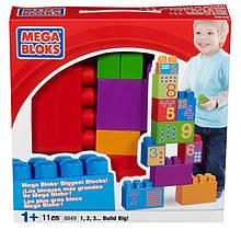 Mega Bloks Конструктор Вивчаємо цифри 1, 2, 3 build big
