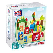 Mega Bloks Конструктор Тварини 50 деталей DPY43 First Builders Match 'n Stack Animals Building Set