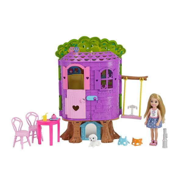 Barbie Барби Челси Дом на дереве Chelsea Doll FPF83 Treehouse Playset