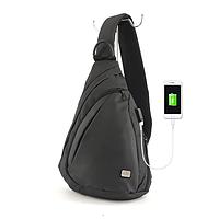 Сумка-рюкзак Mark Ryden 2019 на плечо с USB зарядкой Black ОРИГИНАЛ !