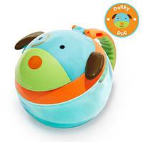 Skip hop Контейнер-чашка для снеков Собачка zoo snack cup dog