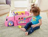 Fisher-Price Смейся и учись развивающий центр, машинка, сортер Laugh Learn Smart Stages Crawl Around Car Pink, фото 4