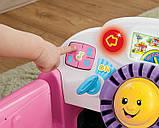 Fisher-Price Смейся и учись развивающий центр, машинка, сортер Laugh Learn Smart Stages Crawl Around Car Pink, фото 5
