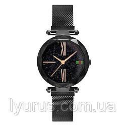 Стильные женские часы Starry Sky Watch черные. Скай воч.