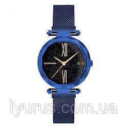 Стильні жіночі годинники Starry Sky Watch. Сині. Скай воч.