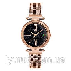 Стильні жіночі годинники Starry Sky Watch. Золото. Скай воч.