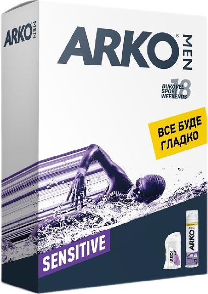 Подарочный набор ARKO Sensitive (Пена + Бальзам после бритья)