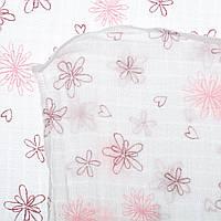 Пеленка Bebetto Pink Flowers B624 ТМ: Bebetto