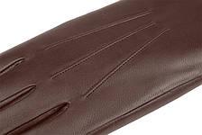 Мужские перчатки из натуральной кожи модель 068 каштан на подкладке из натурального меха, фото 2