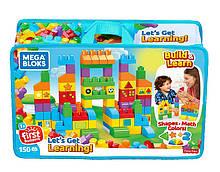 Mega Bloks Конструктор Давайте вчитися 150 деталей в сумці FVJ49 let's Get Learning Building Set
