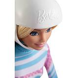 Barbie Барби йога лыжница FDR57 Skier Doll Pink Passport Made to Move, фото 4