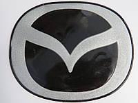 Антискользящий силиконовый коврик на торпедо с логотипом Mazda с запахом лимона
