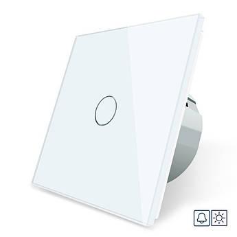 Сенсорная кнопка Livolo Сухой контакт 1 канал белый стекло (VL-C701IH-11)