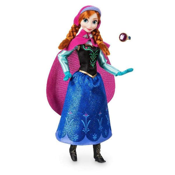 Disney Принцессы Диснея Анна с кольцом для девочки Frozen Anna Classic Doll with Ring 2018 Version