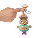 WowWee Fingerlings Интерактивная ручная обезьянка с малышкой Danny Gianna Baby Monkey Mini Bffs Interactive, фото 3