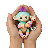 WowWee Fingerlings Интерактивная ручная обезьянка с малышкой Danny Gianna Baby Monkey Mini Bffs Interactive, фото 8