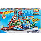 Hot Wheels Трек измени цвет водонапорная башня взрыв цветов Ultimate Gator Car Wash Play Set with Color, фото 5